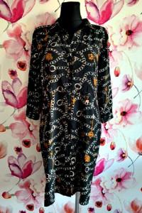 rant&rave sukienka koszulowa modny wzór łańcuszki korony jak no...