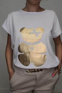 HIT T shirt biały ze złotym Misiem 4XL...