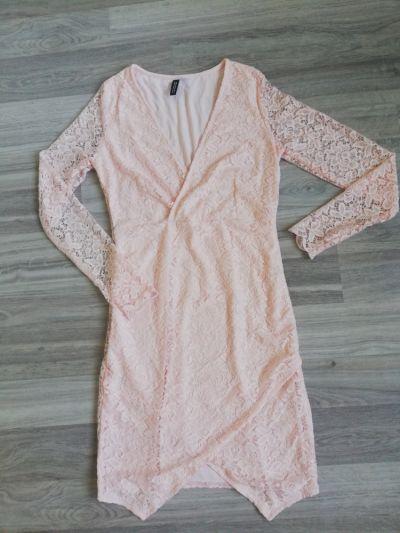 Suknie i sukienki Koronkowa sukienka pudrowy róż roz