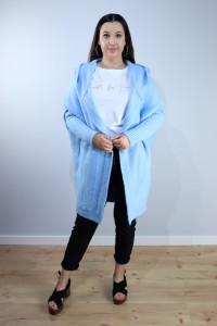 Sweter oversize błękit...