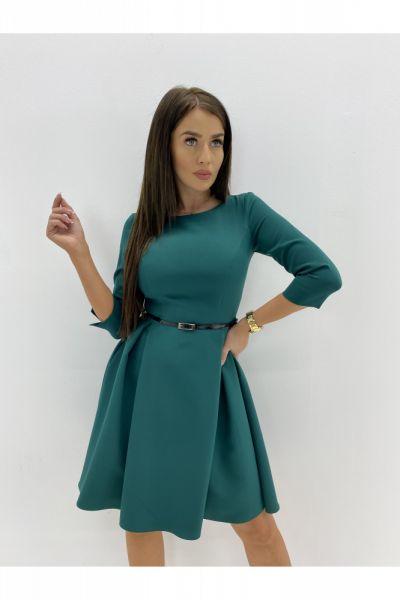 Suknie i sukienki ROZKLOSZOWANA sukienka z paskiem 36 38 40 42 44 46
