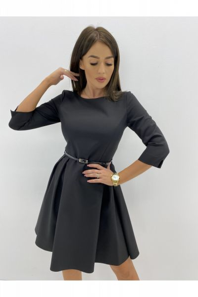 Suknie i sukienki Rozkloszowana sukeinka pasek 36 38 40 42 44 46 kolory