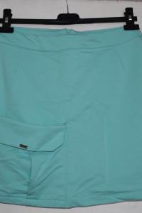 Krótka miętowa turkusowa spódnica z kieszonką rozmiar L HDM