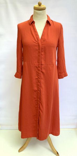 Suknie i sukienki Sukienka Pomarańczowa H&M S 36 Elegancka Prosta Militarna