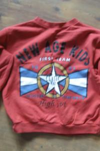 Czerwona bluza rozmiar 104...
