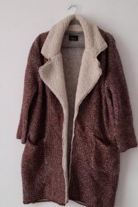 Zara Gruby ciepły sweter kardigan 36...