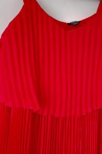 Czerwona plisowana sukienka 44...