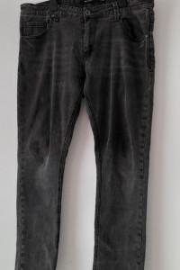 Szare elastyczne męskie spodnie 48