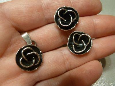 Komplety komplet srebrny Rytosztuka róże