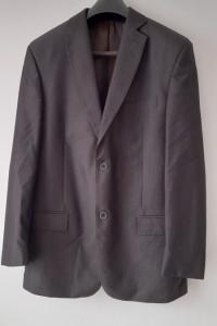 Szary elegancki garnitur męski L XL