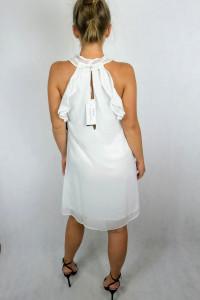 Biała sukienka firmy Nelly...