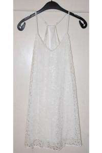 Biała koronkowa prześwitująca koszula nocna rozmiar S...