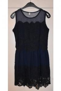Granatowa sukienka koktajlowa koronka idealna na studniówkę wes...