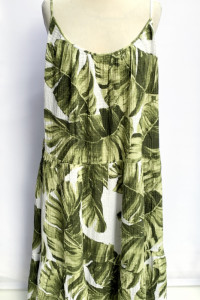 Sukienka Long H&M Liście Monstery Długa XXL 44 Maxi...