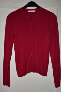 Różowy buraczkowy milutki rozpinany sweterek z guziczkami Reser...