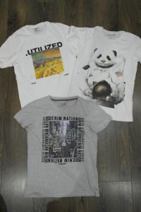 Trzy bluzki markowe chłopięce Xs