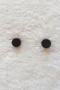 Nowe kolczyki magnetyczne klipsy czarne kółka małe eleganckie u...