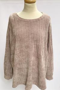 Sweter Welurowy Brudny Róż KappaAhl 3XL 46 Oversie Różowy