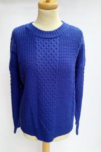 Sweter Kobaltowy Papaya L 40 Warkocze Kobalt
