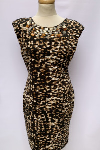 Sukienka Panterka H&M Cętki Kryształki L 40...