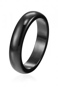 Nowa czarna obrączka ceramiczna pierścionek 4 mm czerń prosta modern celebrytka