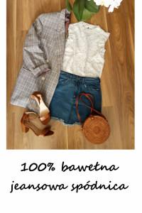 Vintage jeansowa mini spódnica bawełna