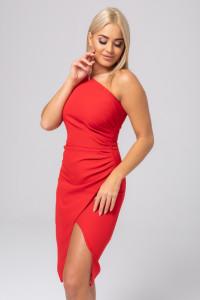 Sukienka asymetryczna czerwona krótka 34 36 38 40 42 44