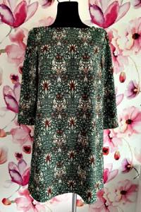 h& morris&co sukienka z kolekcji modny kwiatowy wzór 36