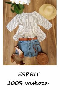Bluzka w paski Esprit L XL wiskoza...