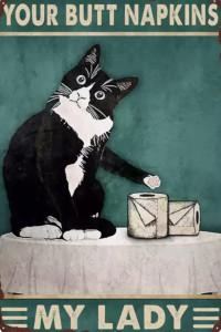 Your butt napkins my lady koty kot szyld plakat tabliczka 20 x 30 cm NOWA