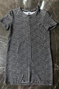 ZARA Trafaluc sukienka w geometryczny print czarno biała rozmia...