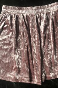 ONLY spódniczka welurowa rozkloszowana pudrowy róż rozmiar XS 34 stan BDB