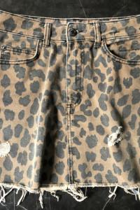 Bershka spódniczka mini w cętki z kieszeniami rozmiar S 36 stan BDB