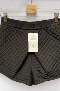 Spodenki NOWE Czarne Pikowane Zara S 36 Kopertowe