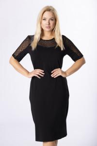 czarna midi sukienka M84340 44 46 48 50 52 54 plus size