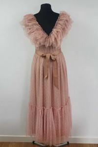 Piękna Sukienka tiulowa z paskiem rozmiar 36...