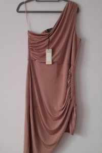 Lipsy Różowa asymetryczna sukienka 44...