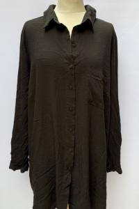Koszula Czarna Oversize Zizzi XL 42 Elegancka Luźna