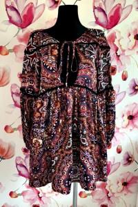 boohoo bluzka modny wzór ornament jak nowa hit 38