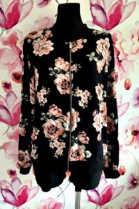 f&f kurtka bomberka modny wzór kwiaty nowa hit blog 44...
