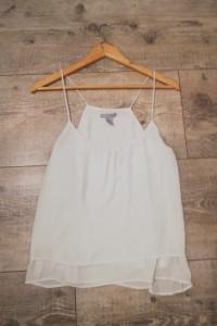 Biała bluzka na ramiączkach H&M