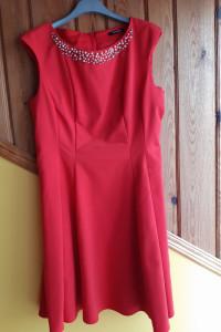 Sukienka czerwona firmy Orsay rozm 40