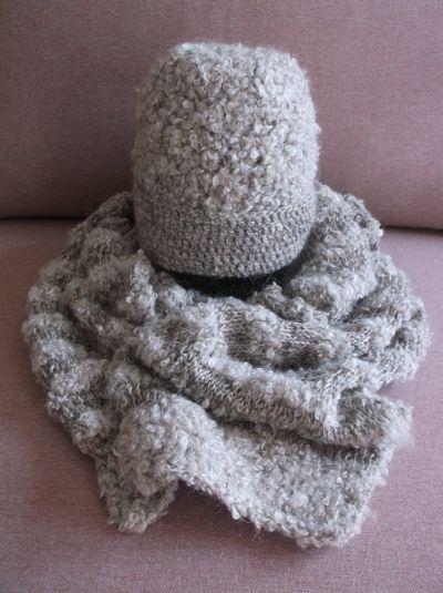 Nakrycia głowy Komplet czapka i szal Handmade