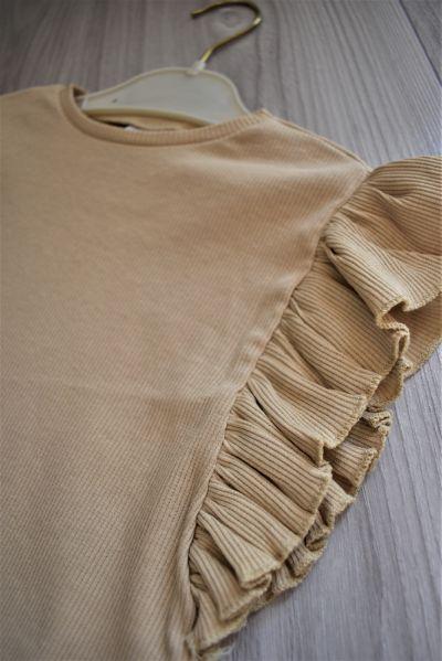 Bluzki Koszulka z prążkowanej dzianiny różne rozmiary
