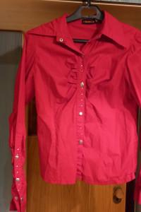 koszula czerwona włoska
