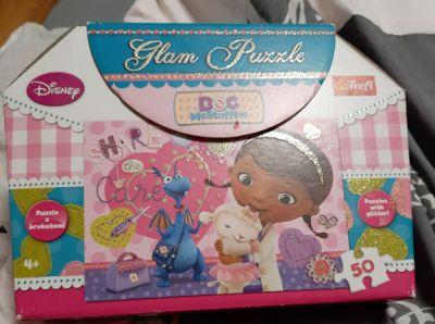 Zabawki Trefl puzzle brokatowe Dr Dosia