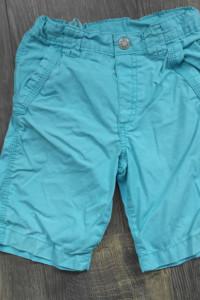 H&M krótkie spodenki niebieskie 104