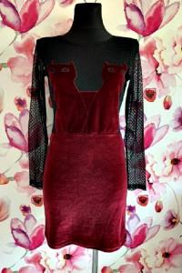 asos sukienka mini modny wzór koty siateczka jak nowa hit 38