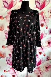 h&m sukienka modny wzór kwiaty floral jak nowa hit 44