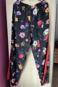 Zara nowe spodnie wzory floral kwiaty wiskoza...